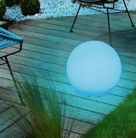 Blue solar lamp