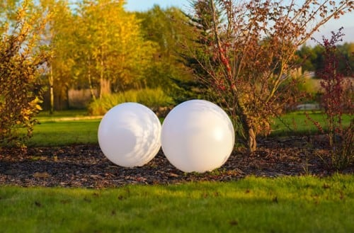 Set of solar balls
