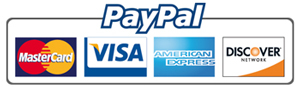 paypal also supports mastercard, visa, american express and discover network payments