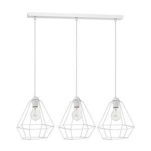 White Hanging Lamp Alma White 3x E27 small 0