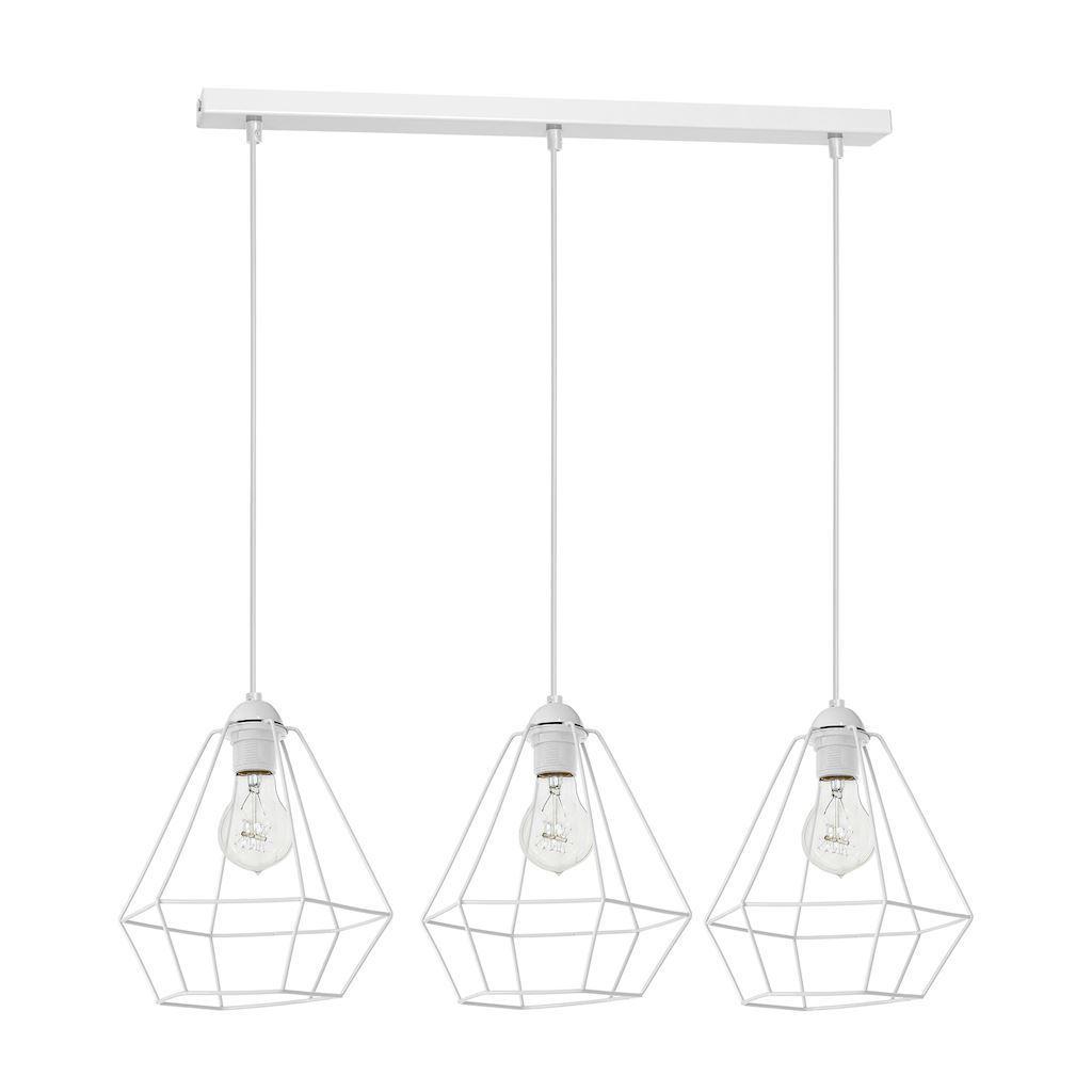 White Hanging Lamp Alma White 3x E27