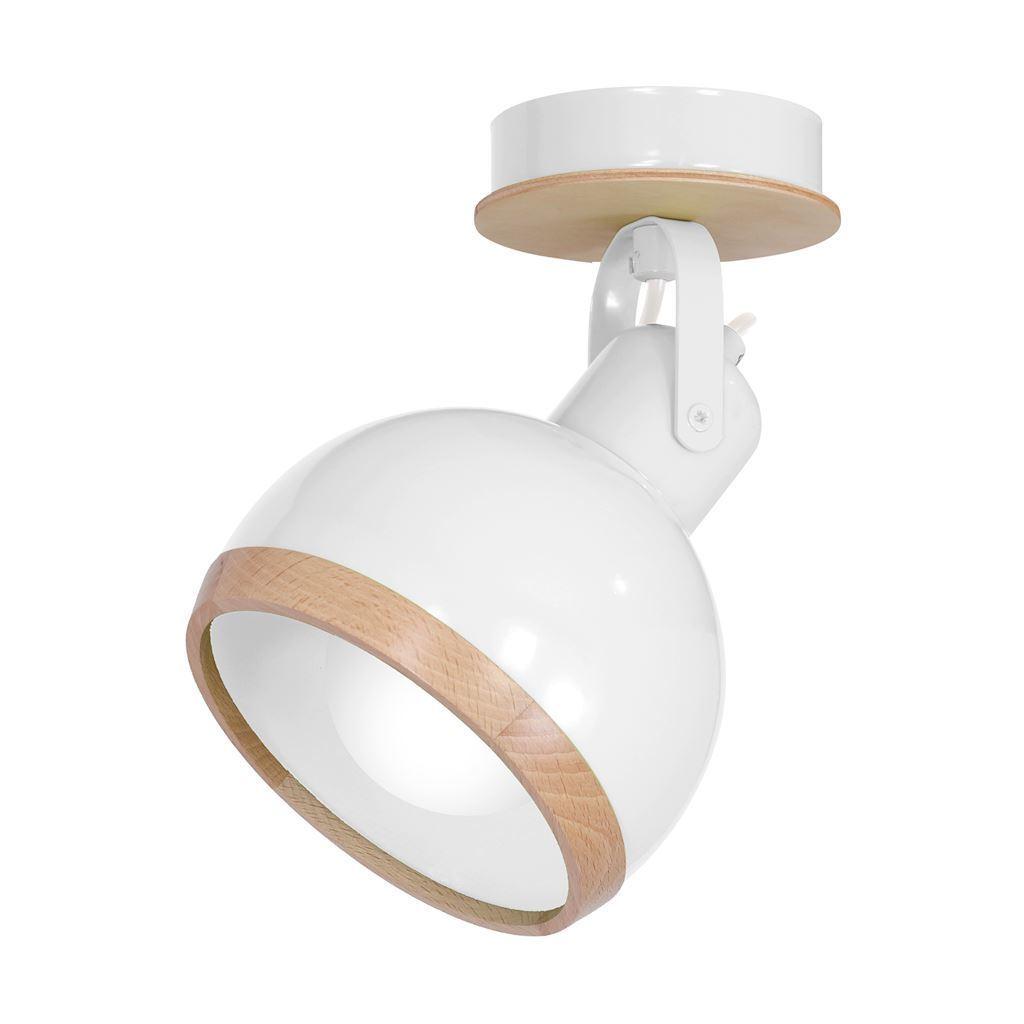 White Oval White wall lamp 1x E27