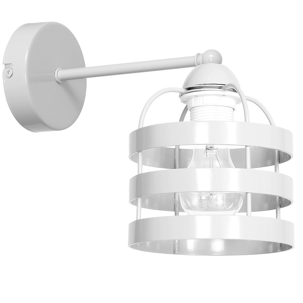 White Lars White 1x E27 wall lamp