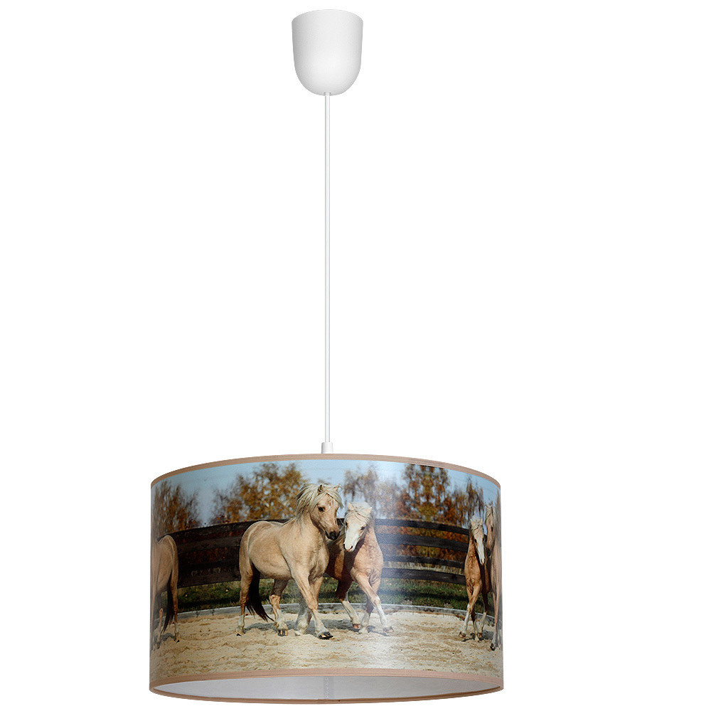 Multicolor Hanging Lamp Horses 1x E27