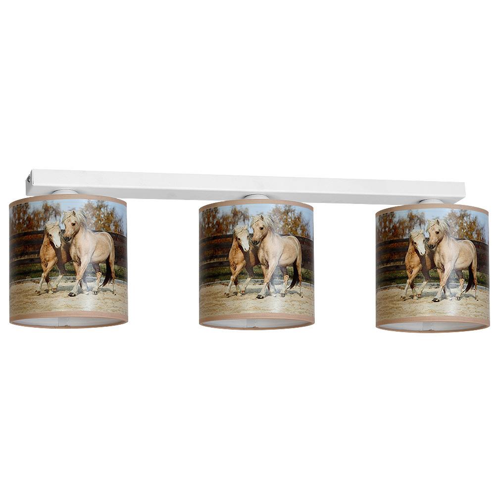 Multicolor Ceiling Lamp Horses 3x E27