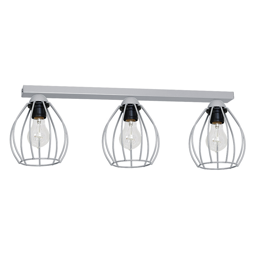 Gray Ceiling Lamp Don Gray 3x E27