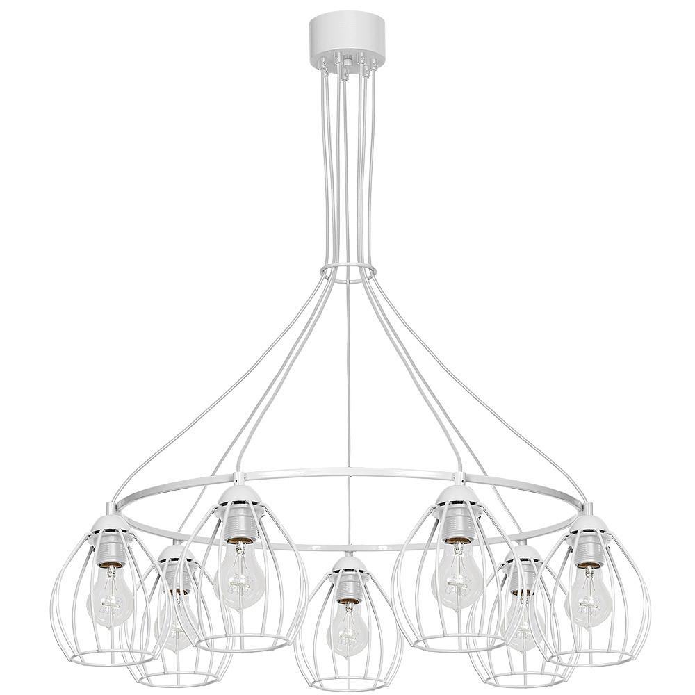 Hanging lamp Don White 7x E27