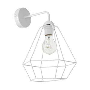 White Wall lamp Alma White 1x E27 small 0