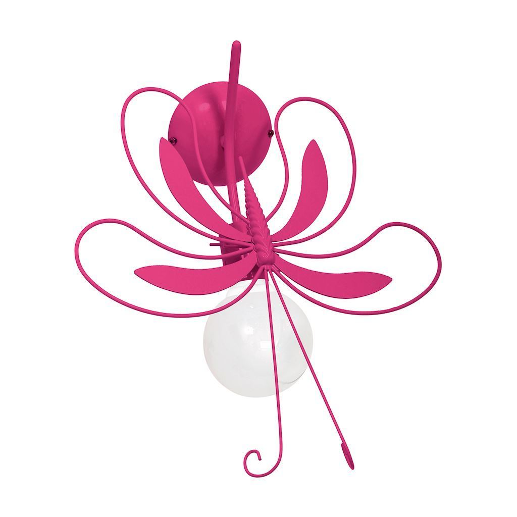 Pink Wall lamp Oct Dark Pink 1x E27