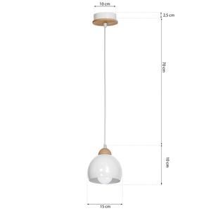 White Hanging Lamp Dama White 1x E27 small 7