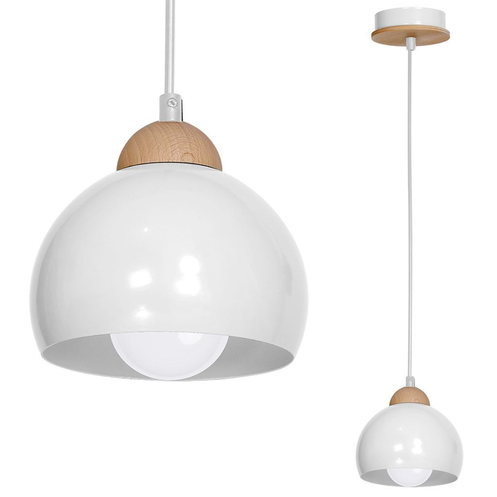 White Hanging Lamp Dama White 1x E27