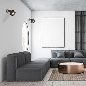 Black Oval Black 1x E27 wall lamp small 1