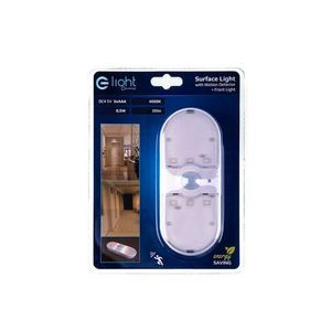 White Surface Lamp With 4000K Motion Detector small 3