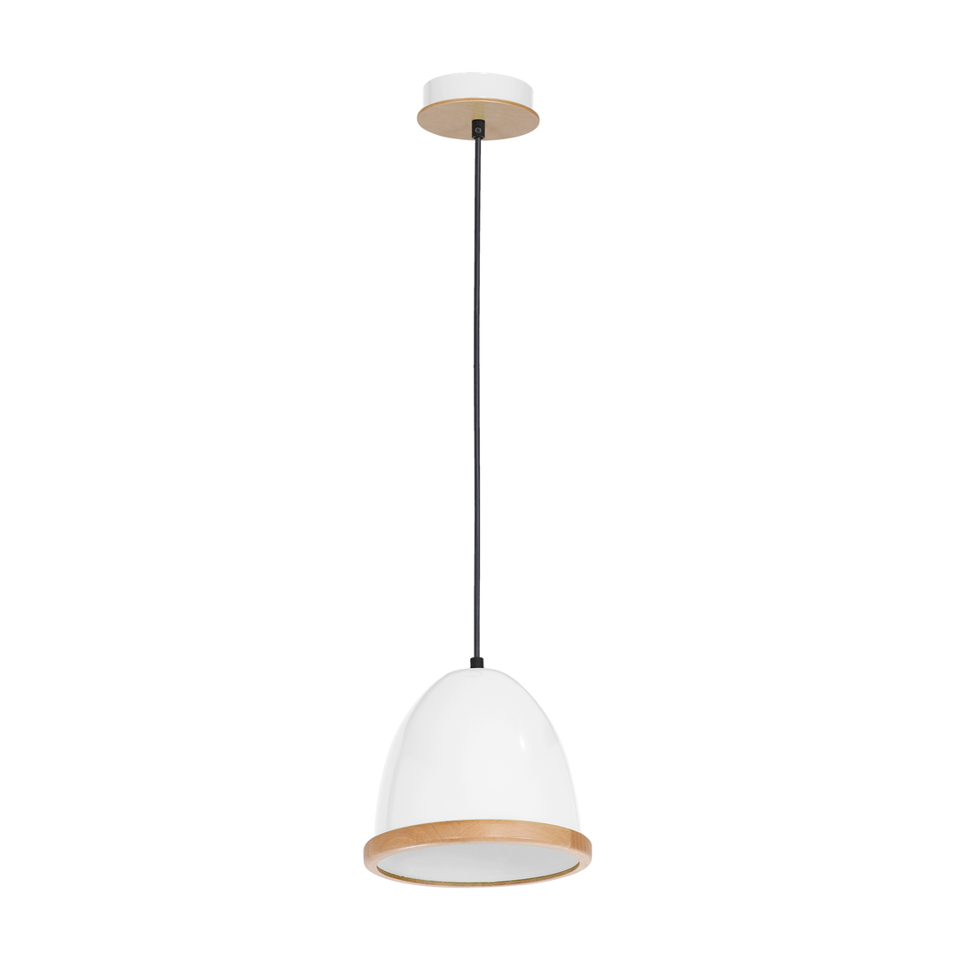 White Studio White 1x E27 Hanging Lamp
