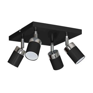 Black Ceiling Lamp Joker Black 4x Gu10 small 0
