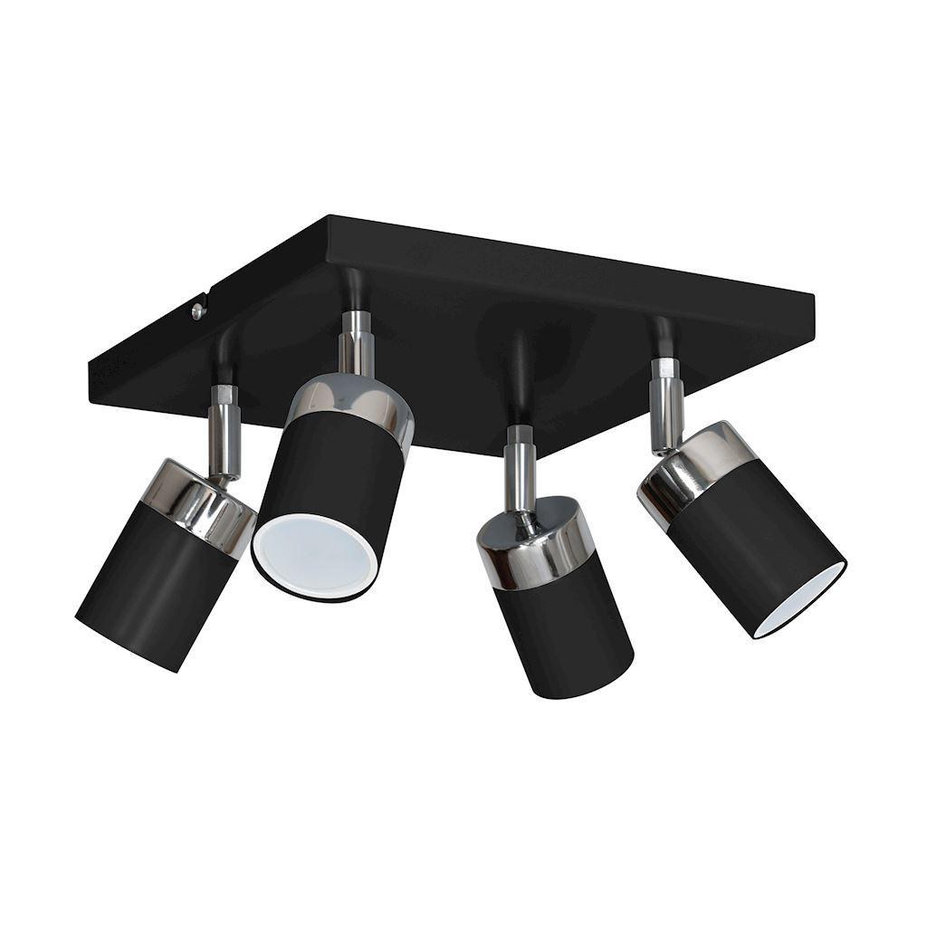 Black Ceiling Lamp Joker Black 4x Gu10