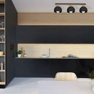 Black Ceiling Lamp Dama Black 3x E27 small 6
