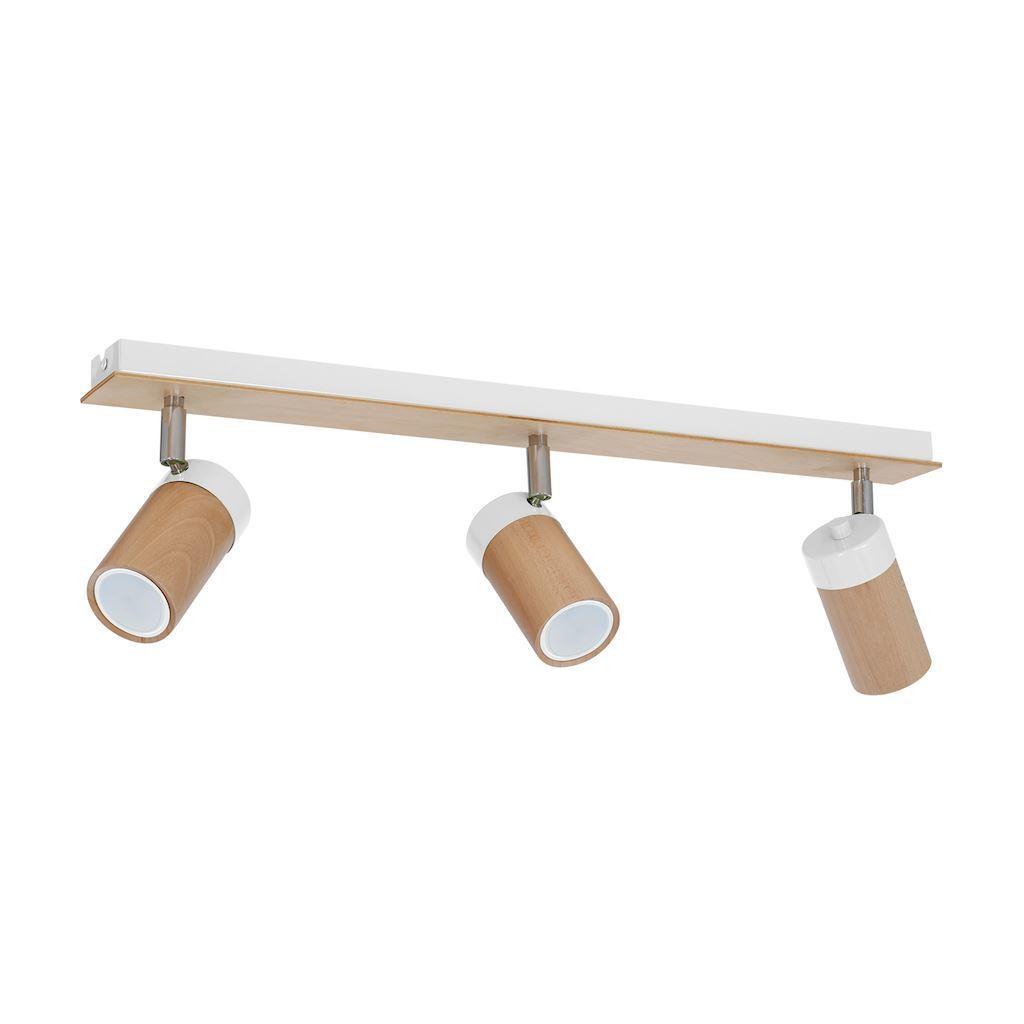 White Ceiling Lamp Baron White 3x Gu10