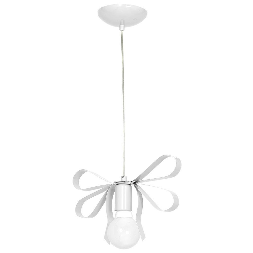 White Emma White 1x E27 Hanging Lamp