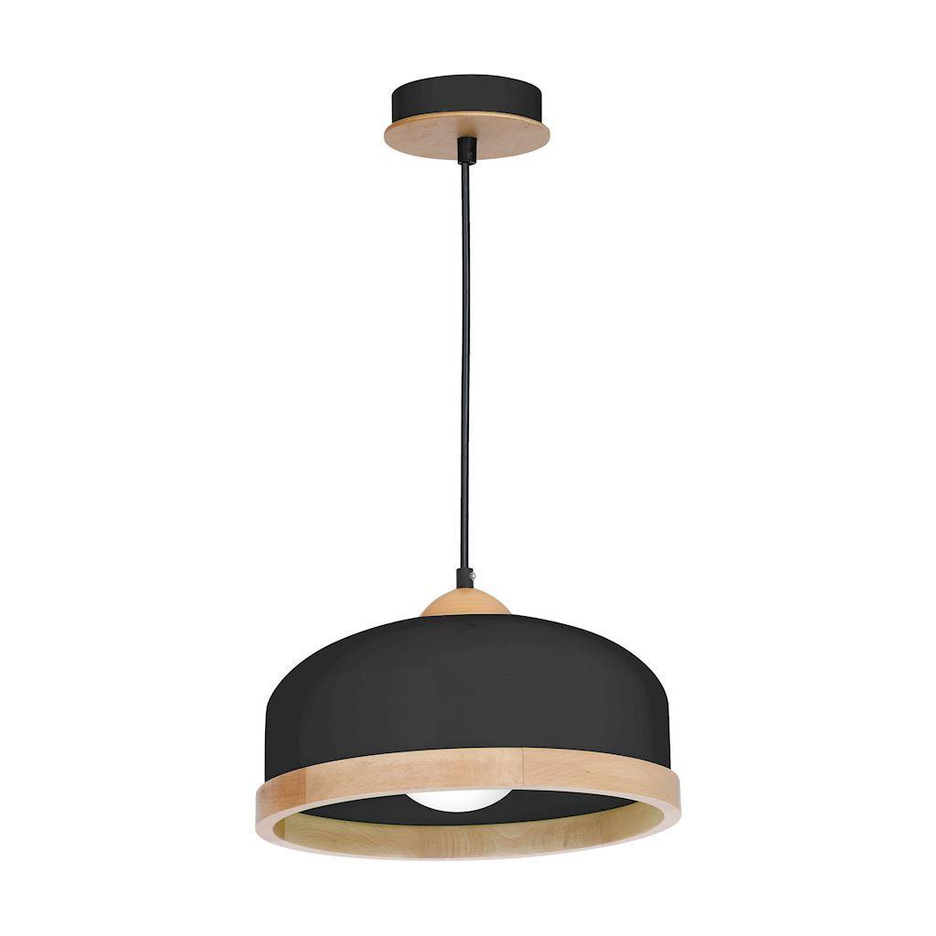 Black Hanging Lamp Studio Black 1x E27