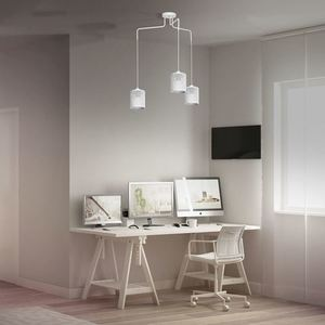 Hanging Lamp Louise White 3x E27 small 1