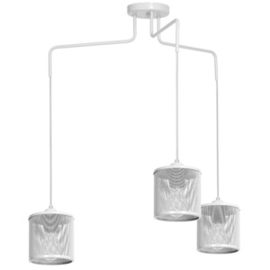 Hanging Lamp Louise White 3x E27 small 0