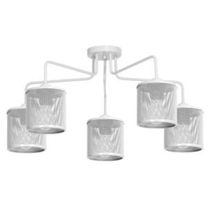 Ceiling Lamp Louise White 5x E27 small 0