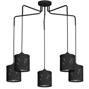 Hanging lamp Louise Black 5x E27 small 0
