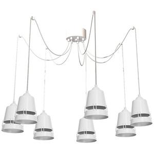 Apollo White Hanging Lamp 5x E27 small 0