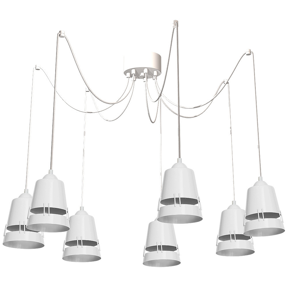 Apollo White Hanging Lamp 5x E27