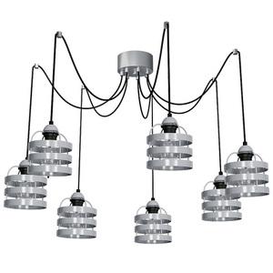 Gray Hanging Lamp Lars Gray 7x E27 small 0