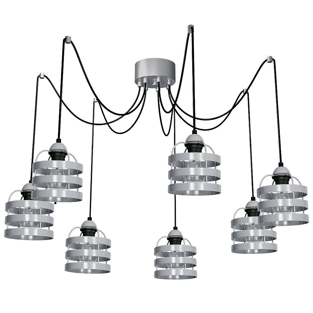 Gray Hanging Lamp Lars Gray 7x E27