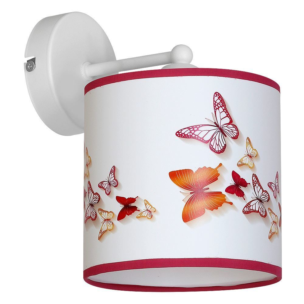 Multicolored Wall lamp Butterflies 1x E27