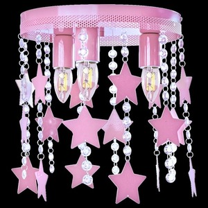 Pink Ceiling Lamp Star 3x E27 small 7
