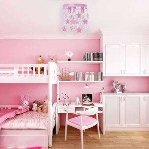 Pink Ceiling Lamp Star 3x E27 small 8