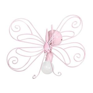 Pink Wall lamp Butterfly 2 Pink 1x E27 small 0
