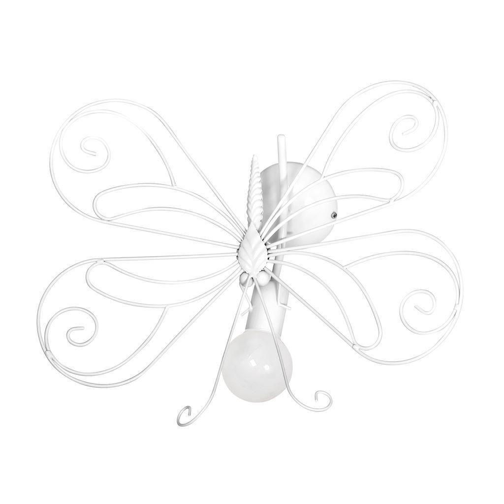 White Kinikiet Butterfly 2 White 1x E27