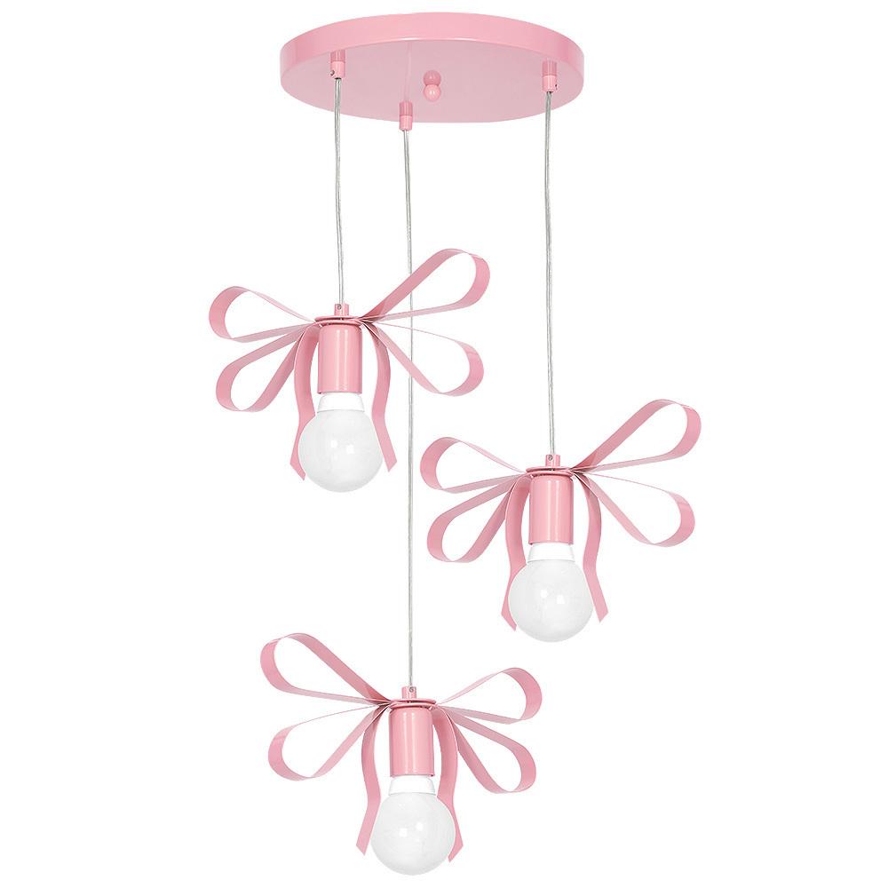 Pink Hanging Lamp Emma Pink 3x E27