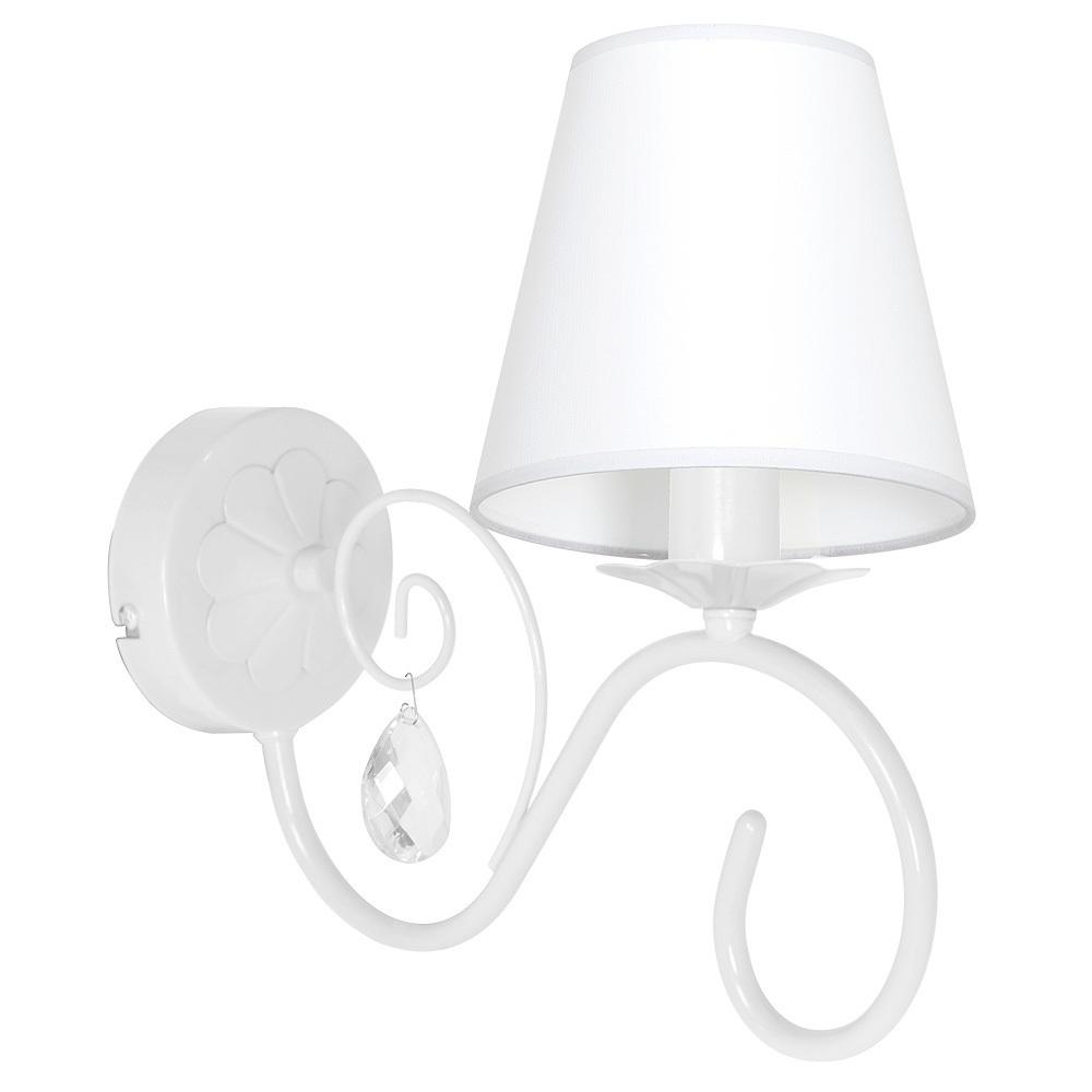 White Wall lamp Sara White 1x E14