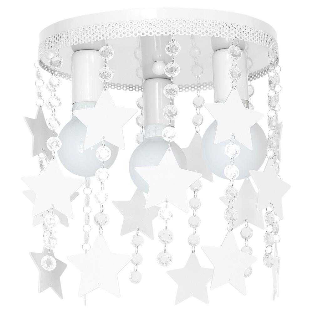 White Ceiling Lamp Star 3x E27