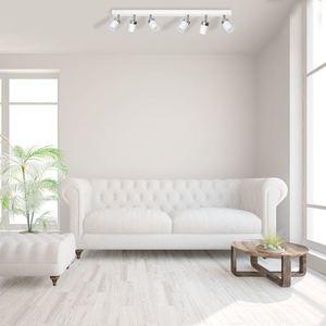 White Ceiling Lamp Joker White 6x Gu10 small 1