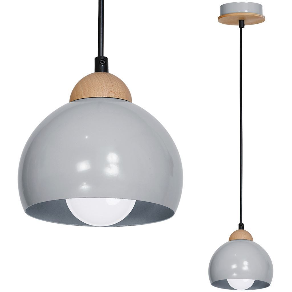 Gray Hanging Lamp Lady Gray 1x E27