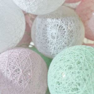 Multicolor LED Cotton Balls 230 V 30 Pcs. small 1