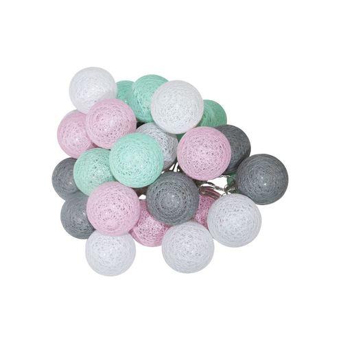 Multicolor LED Cotton Balls 230 V 30 Pcs.