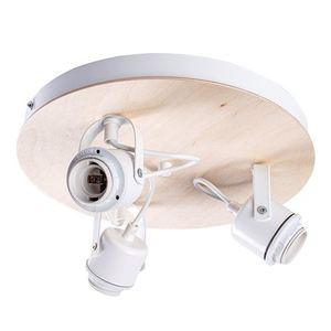 White Oval White Ceiling Lamp 3x E27 small 1