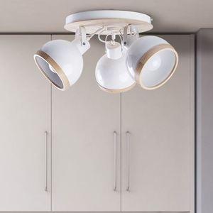 White Oval White Ceiling Lamp 3x E27 small 4