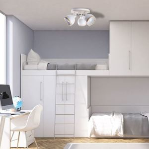 White Oval White Ceiling Lamp 3x E27 small 5