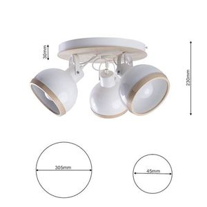 White Oval White Ceiling Lamp 3x E27 small 6