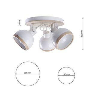 White Oval White Ceiling Lamp 3x E27 small 6