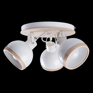 White Oval White Ceiling Lamp 3x E27 small 7